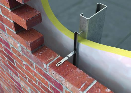 Brick Tie To Suit Channel Wessex Fixings